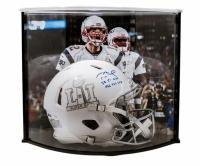 "Tom Brady Signed LE Super Bowl 51 Custom Matte White ICE Authentic Proline Speed Helmet Inscribed ""SB 51 MVP"" & ""466 YDS 2 TD"" with Curve Display Case (Tristar Hologram & Steiner COA)"