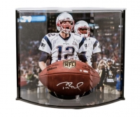 "Tom Brady Signed ""The Duke"" NFL Official Game Ball with Curve Display Case (TriStar)"