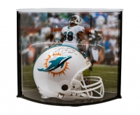 "Jason Taylor Signed LE Miami Dolphins Full-Size Authentic On-Field Helmet Inscribed ""HOF 17"" with Curve Display Case (Steiner COA)"