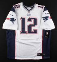 Patriots LE Authentic Nike Jersey Signed By (8) With Tom Brady, LeGarrette Blount, Dont'a Hightower, Stephen Gostkowski, Dion Lewis, Martellus Bennett (Tristar & Fanatics Hologram) at PristineAuction.com