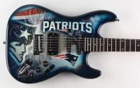 "Tom Brady Signed LE Patriots Electric Guitar Inscribed ""5x Champ"" (Steiner COA)"