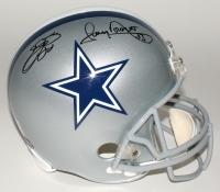 Emmitt Smith & Tony Dorsett Signed Cowboys Full-Size Helmet (PROVA Hologram & Smith Hologram) at PristineAuction.com
