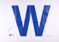 "Billy Williams Signed 28x41 Chicago Cubs ""W"" Flag (Schwartz COA)"