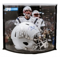 Tom Brady Signed LE Super Bowl 51 Full-Size Custom Matte White ICE Speed Helmet with Curve Display Case (Tristar Hologram & Steiner COA)