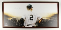"Derek Jeter Signed Yankees 27.5"" x 58"" Custom Framed Giclee on Canvas (Steiner COA) at PristineAuction.com"
