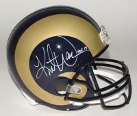 "Kurt Warner Signed Rams Full-Size Helmet Inscribed ""HOF 17"" (JSA COA)"