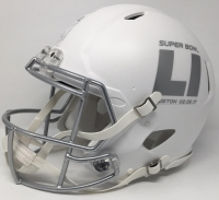 "Tom Brady Signed LE ""Super Bowl 51"" Custom Matte White ICE Full-Size Authentic Pro-Line Speed Helmet Inscribed ""SB 51 MVP"" & ""466 YDS 2TD"" (Steiner COA) at PristineAuction.com"