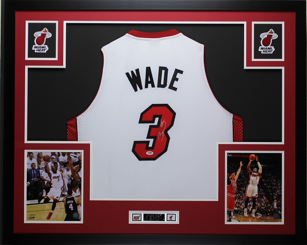 buy popular 93b6f 2706e dwyane wade autographed jersey