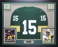 """Bart Starr Signed Packers 35"""" x 43"""" Custom Framed Jersey (Steiner COA)"""
