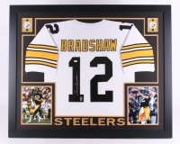 "Terry Bradshaw Signed Steelers 35"" x 43"" Custom Framed Jersey (JSA COA & Bradshaw Hologram)"