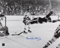 "Bobby Orr Signed Bruins ""The Flying Goal"" 16x20 Photo (Orr COA) at PristineAuction.com"