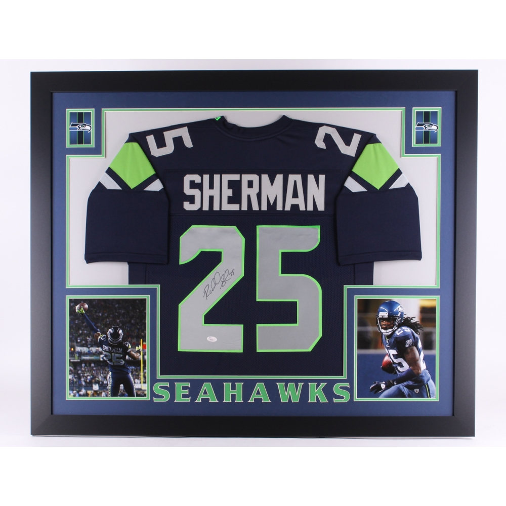 cc9d1b07d ... Seattle Seahawks Richard Sherman 25 signs autographs after the NFC  Practice on Wednesday January 25 Online Sports Memorabilia Auction Pristine  Auction ...