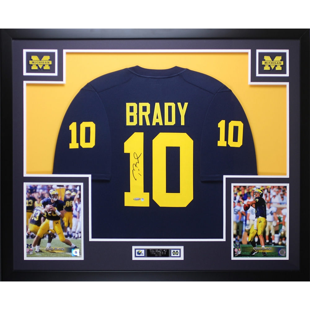 tom brady signed michigan jersey