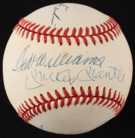 Triple Crown Winners Signed OAL Baseball with (4) Signatures Including Mickey Mantle, Ted Williams, Carl Yastrzemski, & Frank Robinson (PSA LOA)