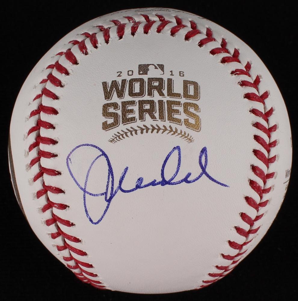Joe Maddon Autographed Signed 2016 World Series Baseball Ball Cubs Jsa Coa Balls