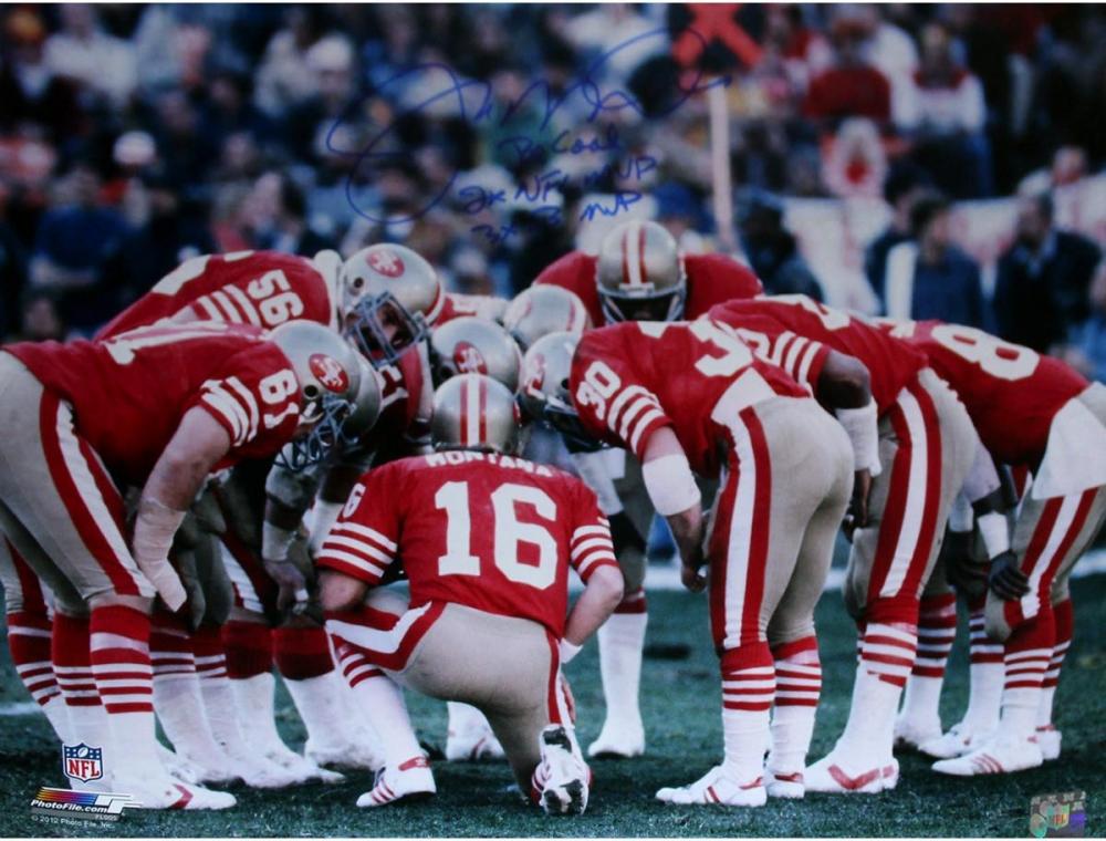 Joe Montana Signed 49ers 16x20 Photo Inscribed
