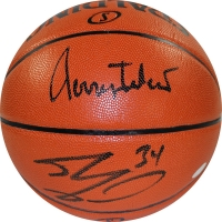 Jerry West & Shaquille O'Neal Signed Basketball (Steiner COA)