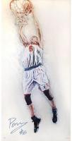 Kristaps Porzingis Signed LE Knicks 26x36 Dunk Hintz Studios Fine Art Print (Steiner COA) at PristineAuction.com