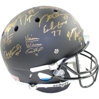 Heisman Trophy Winners Full Size Matte Black Matte Helmet Signed by (22) with George Rogers, Paul Hornung, Earl Campbell (Steiner COA)