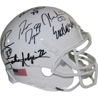 College Football's Best Mini Helmet Signed by (10) with Earl Campbell, Rickey Williams, Mike Rozier, Billy Sims (Steiner COA)