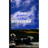 Hoosiers 10x16 Mini Movie Poster Cast-Signed by (8) with Gene Hackman, Brad Boyle, Steve Hollar, Scott Summers (Steiner COA)