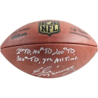 "Eli Manning Signed LE ""The Duke"" Official NFL Game Ball with (5) Inscriptions (Steiner COA)"