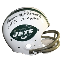 """Broadway"" Joe Namath Signed Jets Full Size Throwback Helmet Inscribed ""HOF 85"" & ""16-7 Jets!!!"" (Steiner COA)"