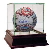 Jorge Posada Signed Charles Fazzino Pop Art MLB Baseball With High Quality Display Case (Steiner COA)