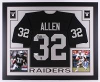 "Marcus Allen Signed Raiders 35"" x 43"" Custom Framed Jersey (JSA COA & Allen Hologram)"