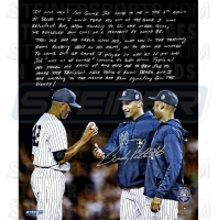 """Andy Pettitte Signed """"Farewell Mariano Rivera"""" 16x20 Photo with Handwritten Story Inscription (Steiner COA)"""