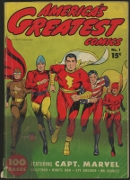Original 1941 America's Greatest Comics Vol. 1 Issue 1 Fawcett Comic Book