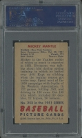 1951 Bowman #253 Mickey Mantle RC (PSA 4) (MK) at PristineAuction.com
