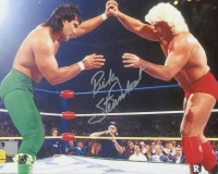 Ricky Steamboat Signed 8x10 Photo (MAB)