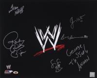 "WWE 16x20 Photo Signed by (6) with Ivan Koloff, Roddy Piper, Jimmy Hart, Fifi the Maid, George ""The Animal"" Steel & Bruno Sammartino (MAB)"
