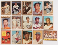 1962 Topps Complete Mid Grade Set of (598) Baseball Cards with #1 Roger Maris, #5 Sandy Koufax, #10 Roberto Clemente, #200 Mickey Mantle, #300 Willie Mays, #320 Hank Aaron