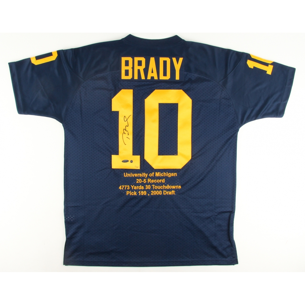 Tom Brady Signed LE Michigan Wolverines Highlight Stat Jersey ...