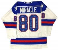 1980 Team USA Hockey Jersey Team-Signed by (20) with Mike Eruzione, Craig Patrick, Jim Craig, Jack O'Callahan (JSA COA)