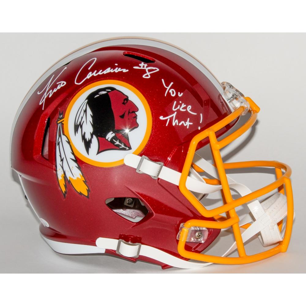 4c740f5152f Kirk Cousins Signed Redskins Full-Size Speed Helmet Inscribed