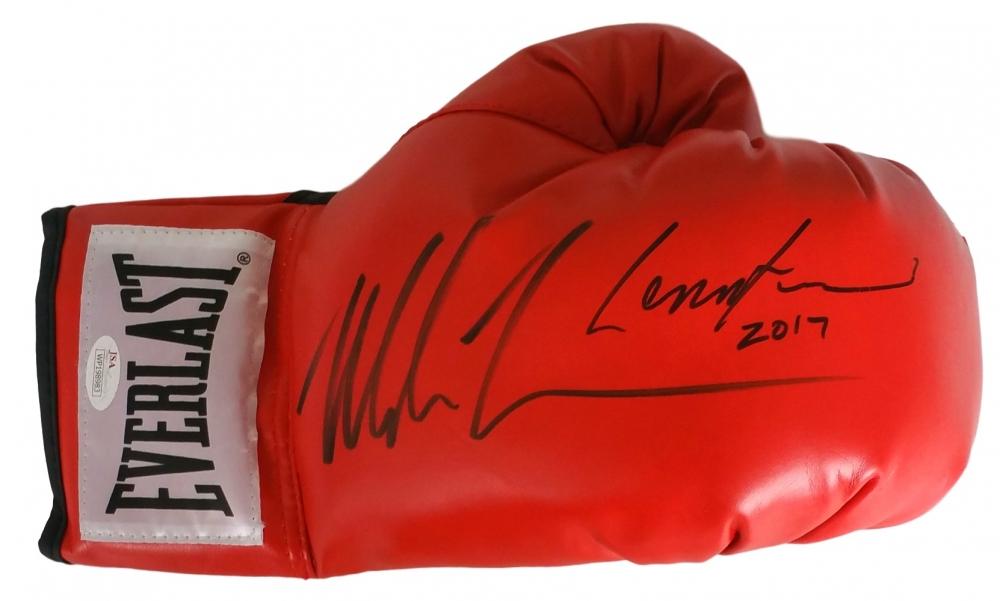 lennox lewis memorabilia. mike tyson \u0026 lennox lewis signed everlast boxing glove dated \ memorabilia s