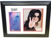 "Michael Jackson Signed 22"" x 27"" Custom Framed Program Page Display Inscribed ""Love"" (PSA LOA)"