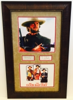 "Clint Eastwood, Lee Van Cleef & Eli Wallach Signed ""The Good, The Bad, and The Ugly"" 19"" x 31"" Custom Framed Photo Display (JSA COA & PSA LOA)"