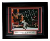 Roman Reigns & Bray Wyatt Signed WWE 13x16 Custom Framed Photo Display (SI COA)
