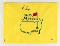 "Gary Player Signed 2016 Masters Tournament 13"" x 17.5"" Golf Pin Flag (Beckett COA)"