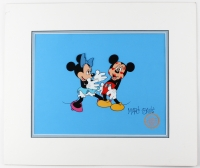 "Marc Davis Signed Mickey & Minnie Walt Disney ""Suprise Party Hugs & Kisses"" LE Animation Matted Serigraph Cel (Davis COA)"