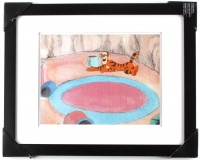 """Winnie The Pooh & """"Tigger"""" Too 16"""" x 20"""" Custom Framed Hand-Painted Production Cel"""