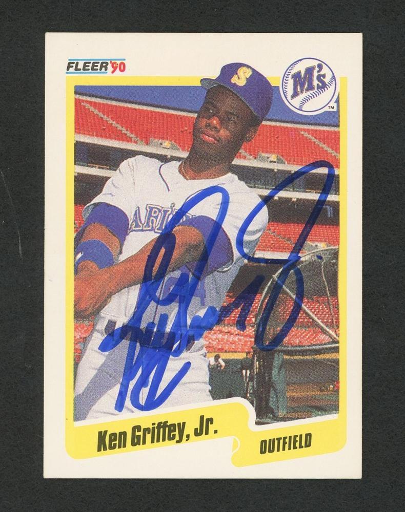 f3ef54b8fe Ken Griffey Jr. Signed 1990 Fleer #513 Baseball Card (JSA COA) at
