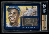 2015 The Bar Jackie Robinson Signed #1/1 14KT Gold (BGS 9.5)