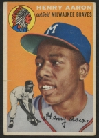 1954 Topps #128 Hank Aaron RC at PristineAuction.com