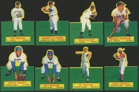 1964 Topps Stand-Ups Complete Set of (77) Baseball Cards with #1 Hank Aaron, #77 Carl Yastrzemski, #48 Willie Mays, #17 Roberto Clemente, #40 Sandy Koufax, #22 Don Drysdale, #47 Eddie Mathews at PristineAuction.com