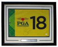 "Jason Day Signed 2016 PGA Championship 19"" x 23"" Custom Framed Pin Flag Display (JSA COA)"